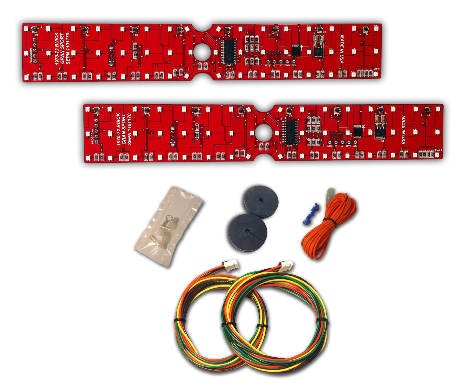 1972 Buick Skylark Gran Sport Led Tail Light Panels Digi Tails Corvette Dash Wiring Diagram