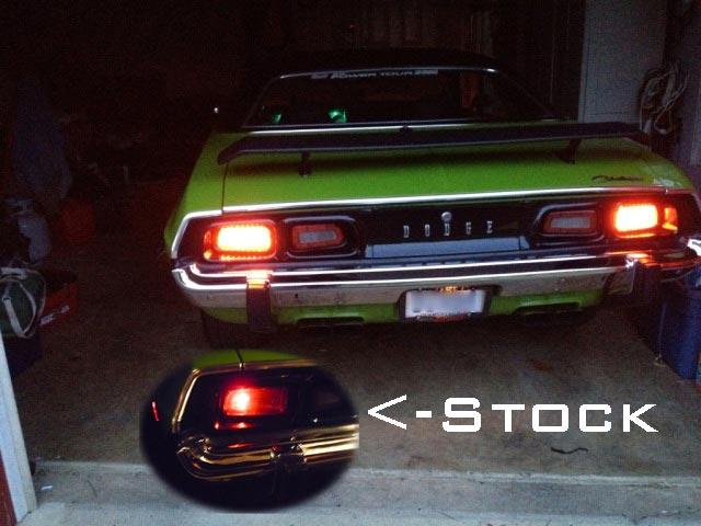 1972 1974 Dodge Challenger LED Tail Light Panels